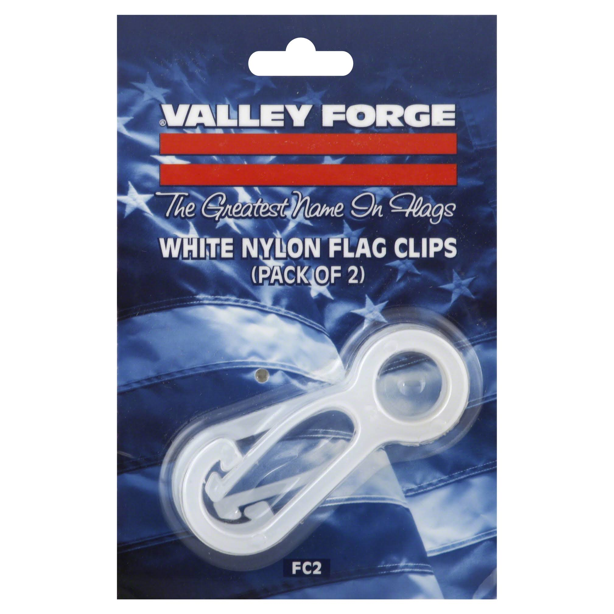 Valley Forge Nylon Flag Pole Snap Hooks - 2.5in, x2