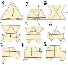 Children Creative Origami From Paper