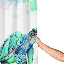 lcxnn 4 stück ozean kreatur wasserdicht duschvorhangset mit