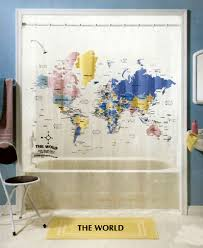 Shower Curtains Express  Blog Archive  The World Map Shower Curtain