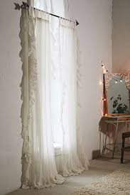 ruffle gauze curtain spaces bedrooms and room