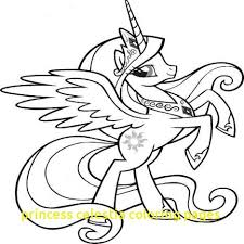 Princess Celestia Coloring Pages With My Little Pony