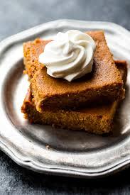 Healthy Light Pumpkin Dessert by Easy Pumpkin Pie Bars Sallys Baking Addiction