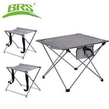 US $52.4 30% OFF|BRS Collapsible Lightweight Aluminum Portable Roll Up  Table Chairs Set Outdoor Folding Camping Stool Patio Foldable Picnic Table  On ... Alinum Alloy Outdoor Portable Camping Pnic Bbq Folding Table Chair Stool Set Cast Cats002 Rectangular Temper Glass Buy Tableoutdoor Tablealinum Product On Alibacom 235 Square Metal With 2 Black Slat Stack Chairs Table Set From Chairs Carousell Best Choice Products Patio Bistro W Attached Ice Bucket Copper Finish Chelsea Oval Ding Of 7 Details About Largo 5 Piece Us 3544 35 Offoutdoor Foldable Fishing 4 Glenn Teak Wood Extendable And Bk418 420 Cafe And Restaurant Chairrestaurant