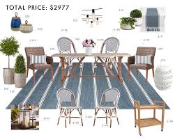 Equipale Chairs Los Angeles budget room hamptons outdoor dining room emily henderson diy