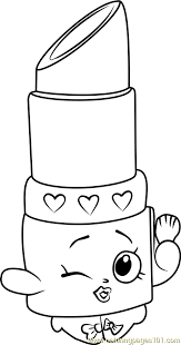 Lippy Lips Shopkins Coloring Page