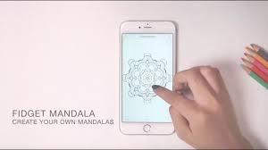 Fidget Mandala In Adult Coloring Book App Create Thousands Of Mandalas