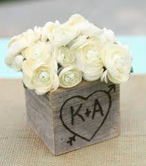 Shabby Chic Wedding Decor Pinterest by Rustic Barn Wood Planter Vase Wedding Shabby Chic Personalized