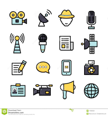 News Reporter Icons Stock Vector Illustration Of Broadcasting