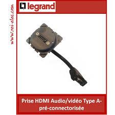 prise murale hdmi legrand céliane mécanismes prise hdmi audio type a pré connectorisée
