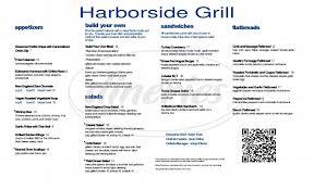 Hyatt Harborside Grill And Patio by Harborside Grill U0026 Patio Menu Boston Dineries