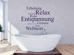 wandtattoo relax für das badezimmer wandtattoo de