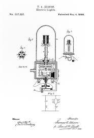 edison light bulb patent white 1880 digital by daniel hagerman