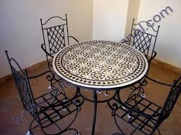 table ronde mosaique fer forge des table ronde en mosaïque traditionnel marocaine 2017