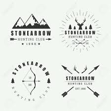 Set Of Vintage Hunting Labels Logos And Badges Stock Vector
