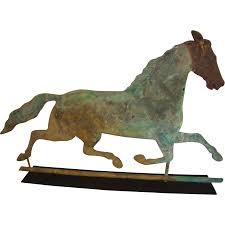Rare 19th Century Running Horse Weathervane Signed