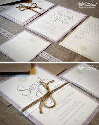Lovely Lavender Wedding Invitations For A Rustic Country