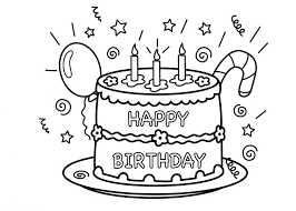 Coloring Pages Free Birthday Printables Happy Trend In Books Cards For Mom