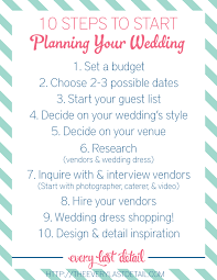 10 Steps To Start Planning Your Wedding Via TheELD