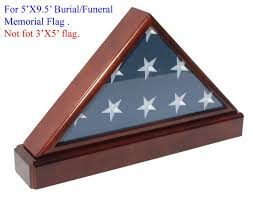 Amazon Burial Funeral Flag Display Case Military Shadow Box With Pedestal Stand Solid Wood FC60P5 MAH Industrial Scientific