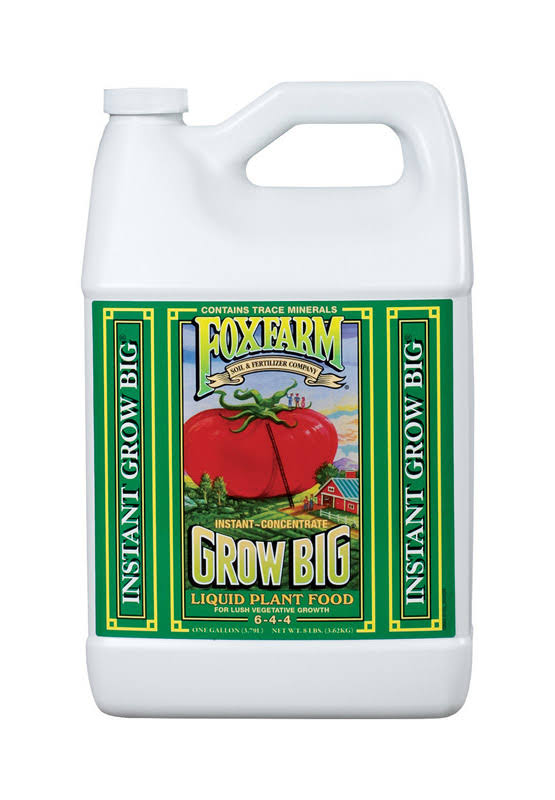 FoxFarm Grow Big Soil Liquid Concentrate Fertilizer - 1 Gallon