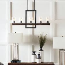 Odin Transitional Linear 5 Light Candle Style Chandelier