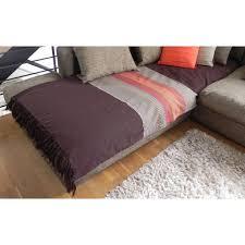 jetee de canapé jetée de canapé coton aztèque chocolat coloré 200x240cm pier import