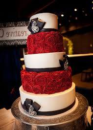 Fine Design Red Black And White Wedding Cakes Beautiful Idea Pertaining To The Most Elegant Wedding Cake Designs Red Black And White