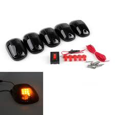 Mad Hornets - LED Cab Roof Marker Running Lights Truck SUV 4x4 Black ... 5pcs Amber Led Cab Roof Top Marker Running Lights For Truck Black Led Lighting Fancy Driving Trucks 2016 Gmc Sierra Shows Off Its New Face Aoevolution Dodge Ram 3500 Vw Atlas Tanoak Pickup Teases Honda Ridgeline Rival Slashgear Drl Daytime Light Toyota Hilux 52018 Fog Lamp Itimo 60 6 In 1 Reversing Brake 4 Pin Cnection Tailgate Bar Recon 264227amclx Extra Air Dam Automotive Household Trailer Rv Bulbs Parts Accsories Caridcom Ford F350 Super Duty Questions Need To Locate The Fuse That How Wire Dual Function Running Lights Into Your 2015 Style