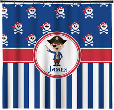 pirate ship shower curtain hooks Pirate Shower Curtain For Kids