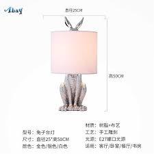 100 Art Deco Shape Resin Rabbit Table Lamp For Living Room Cafe Study Children Room Bedside Lamp Home R Table Light Fixture Led