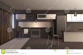 Studio Apartment Kitchen Ideas Studio Apartment Kitchen Design Stock Vector Illustration