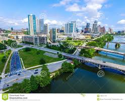 100 Austin City View Afternoon Sunshine In Texas Aerial Drone Of Skyline