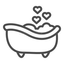 romantische badewannenlinie symbol romantisches badezimmer