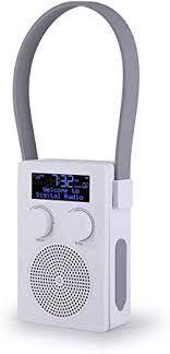 popyourshower radio für badezimmer und dusche dab dab digital fm wiederaufladbar tragbar wasserdicht gemäß ipx5 stoßfestes material mit