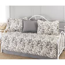laura ashley amberley black and white floral 5 piece quilted