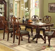 Brussels Traditional Formal Dining Room Set 9 Piece W China Cabinet With Tables