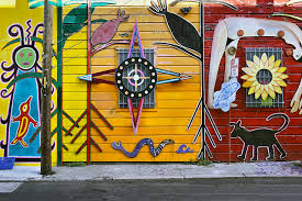 Balmy Alley Murals Mission District by Ipernity Three Sacred Colours U2013 Balmy Alley Mission District
