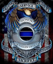 Valour Service Duty Fallen ficers Long Sleeve T Shirt