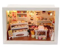 diy bakery cake shop miniature music box model kit miniature