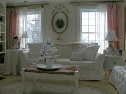 White Living Room Curtains French Country