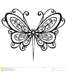 Dragonfly Coloring Page Pages Abstract Simple