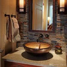großhandel drop in becken mit überlauf bad waschbecken kupfer waschbecken badezimmer terrasse kunst terrasse wc waschbecken doppeldecker