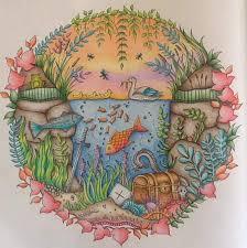 Aquarium Enchanted Forest Aquario Floresta Encantada Johanna Basford Coloring BooksAdult