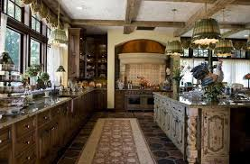 Rustic Kitchen With Wood Beams