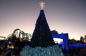 there s santa snow and more at six flags magic mountain as