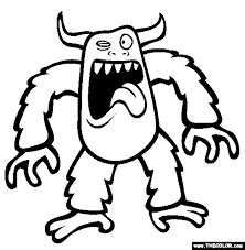 Elegant Monster Coloring Pages 21 In For Kids With