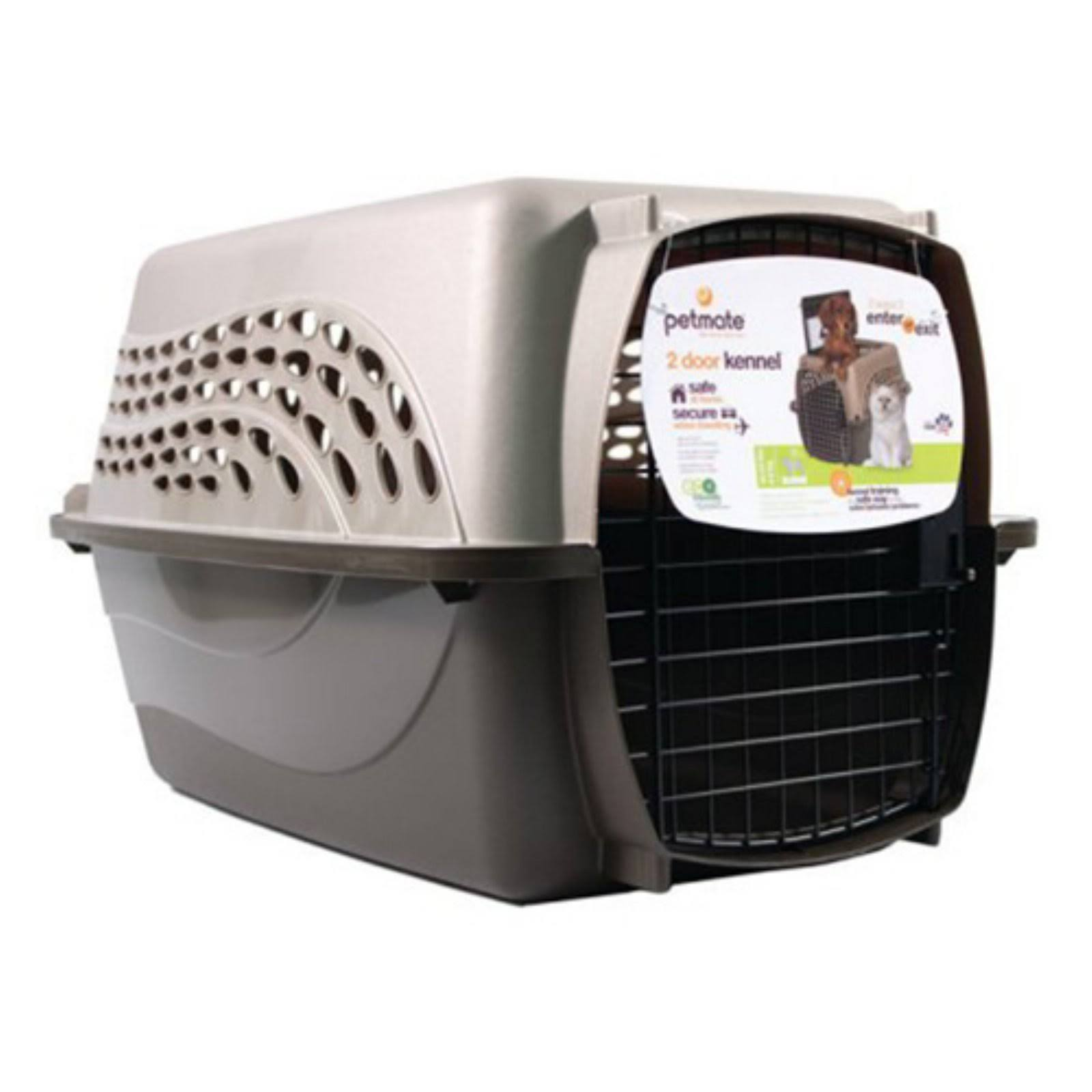 Petmate 2 Door Top Load Kennel Tan