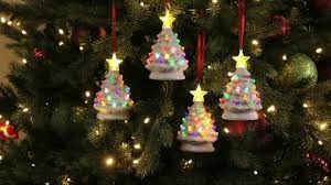 Qvc Christmas Tree Recall by Mr Christmas Set Of 4 Mini Nostalgic Tree Ornaments With Gift