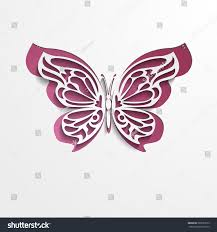 Paper Cut Lacy Butterfly Vector EPS10
